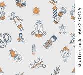 diwali   indian festival... | Shutterstock .eps vector #667270459