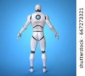 robot futuristic design concept ... | Shutterstock . vector #667273321