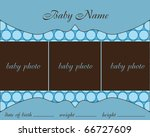 baby boy arrival card with frame | Shutterstock .eps vector #66727609