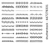 hand drawn vector dividers. set ... | Shutterstock .eps vector #667278331