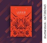 abstract minimalist poster... | Shutterstock .eps vector #667282465