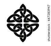 celtic national ornament... | Shutterstock .eps vector #667283947
