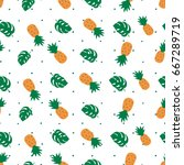 a tropical vector pattern with... | Shutterstock .eps vector #667289719