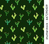 vector seamless pattern with... | Shutterstock .eps vector #667290409