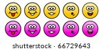 emoji collection with different ... | Shutterstock . vector #66729643