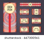 business cards  invitations and ... | Shutterstock .eps vector #667300561