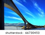 picturesque norway landscape.... | Shutterstock . vector #66730453