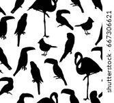 bird  pattern  vector ... | Shutterstock .eps vector #667306621