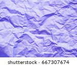 abstract purple violet crumpled ... | Shutterstock . vector #667307674