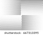 abstract halftone dotted... | Shutterstock .eps vector #667313395