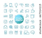 outline icon set. web and... | Shutterstock .eps vector #667314115