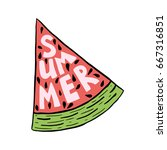 Vector Lettering Summer Card....