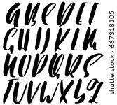 hand drawn elegant calligraphy... | Shutterstock .eps vector #667318105