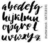 hand drawn elegant calligraphy... | Shutterstock .eps vector #667318141