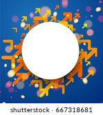 white round background with... | Shutterstock .eps vector #667318681