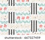 seamless african pattern.... | Shutterstock .eps vector #667327459