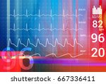 patient monitoring abstract  ... | Shutterstock . vector #667336411