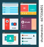 ui app design concept  vector...