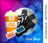 realistic cinema movie poster... | Shutterstock .eps vector #667337161