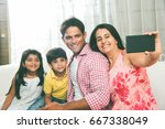 family time   indian family... | Shutterstock . vector #667338049