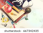 back to school concept. space... | Shutterstock . vector #667342435