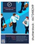 financial newsletter annual... | Shutterstock .eps vector #667348249