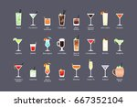 most popular alcoholic... | Shutterstock .eps vector #667352104
