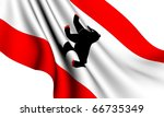 Flag of Berlin, Germany against white background. - stock photo