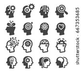 thinking mind icon   Shutterstock .eps vector #667353685