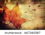 autumn background | Shutterstock . vector #667360387