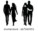 silhouette of a couple of men... | Shutterstock .eps vector #667363351