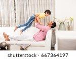 goodlooking indian asian... | Shutterstock . vector #667364197