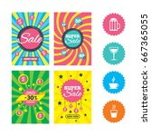 web banners and sale posters.... | Shutterstock . vector #667365055