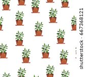 seamless pattern with home... | Shutterstock . vector #667368121