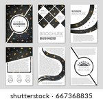 abstract vector layout... | Shutterstock .eps vector #667368835