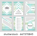 abstract vector layout... | Shutterstock .eps vector #667370845