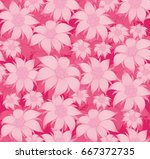 seamless floral pattern. on a... | Shutterstock .eps vector #667372735