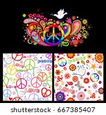 colorful poster and wallpaper... | Shutterstock .eps vector #667385407