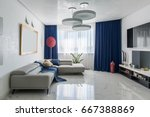 room in a modern style with... | Shutterstock . vector #667388869
