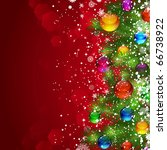 christmas background with snow... | Shutterstock . vector #66738922