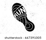 run icon  symbol  marathon... | Shutterstock .eps vector #667391005