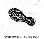 run icon  symbol  marathon... | Shutterstock .eps vector #667391014
