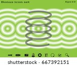 spring  spiral  detail  icon ... | Shutterstock .eps vector #667392151