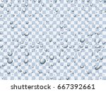 realistic vector water droplets ... | Shutterstock .eps vector #667392661
