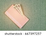Pink Envelope And Japan Money...