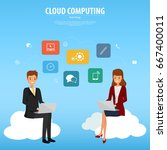 cloud computing infographic...   Shutterstock .eps vector #667400011
