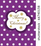 christmas purple card with... | Shutterstock .eps vector #66740158