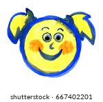 emoticons  a series of...   Shutterstock . vector #667402201
