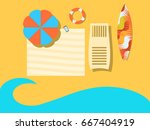 beach  view from above. the sea ... | Shutterstock .eps vector #667404919