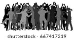 party dancer people  girls and... | Shutterstock .eps vector #667417219